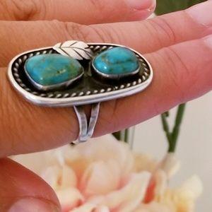 Vintage Sterling Silver Navajo Old Pawn Ring
